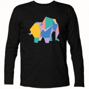 Long Sleeve T-shirt Bright elephant abstraction - PrintSalon