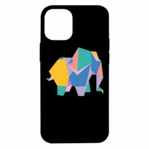 Etui na iPhone 12 Mini Bright elephant abstraction