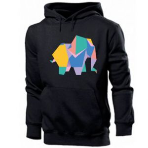Men's hoodie Bright elephant abstraction