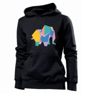 Women's hoodies Bright elephant abstraction - PrintSalon