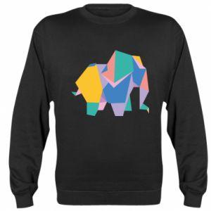 Sweatshirt Bright elephant abstraction - PrintSalon