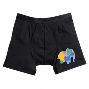 Boxer trunks Bright elephant abstraction