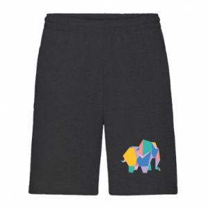 Men's shorts Bright elephant abstraction - PrintSalon