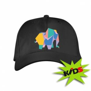 Kids' cap Bright elephant abstraction - PrintSalon