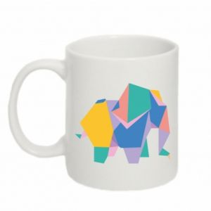 Kubek 330ml Bright elephant abstraction