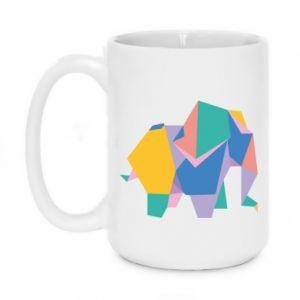 Mug 450ml Bright elephant abstraction - PrintSalon