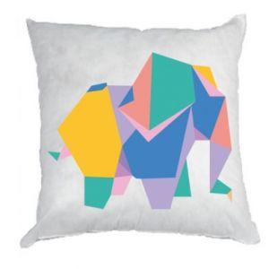 Pillow Bright elephant abstraction - PrintSalon