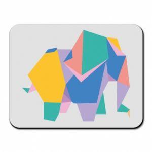Mouse pad Bright elephant abstraction - PrintSalon