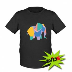 Kids T-shirt Bright elephant abstraction
