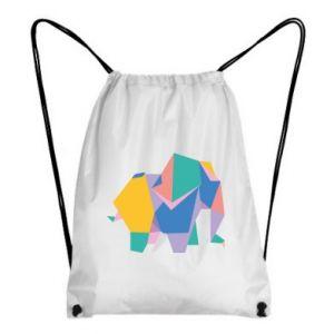 Backpack-bag Bright elephant abstraction - PrintSalon