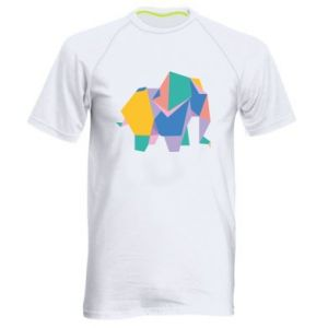 Men's sports t-shirt Bright elephant abstraction