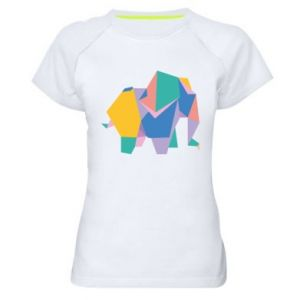 Women's sports t-shirt Bright elephant abstraction - PrintSalon