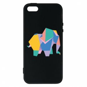 Etui na iPhone 5/5S/SE Bright elephant abstraction