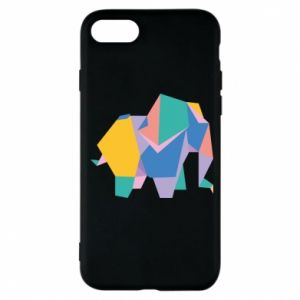 Phone case for iPhone 7 Bright elephant abstraction - PrintSalon
