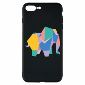 Phone case for iPhone 7 Plus Bright elephant abstraction - PrintSalon