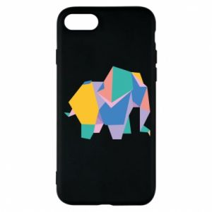 Phone case for iPhone 8 Bright elephant abstraction - PrintSalon