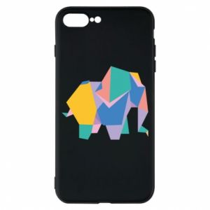Phone case for iPhone 8 Plus Bright elephant abstraction - PrintSalon