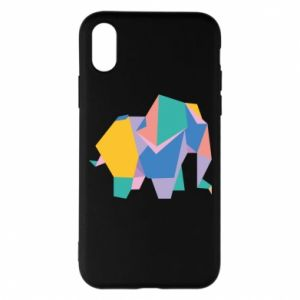 Etui na iPhone X/Xs Bright elephant abstraction