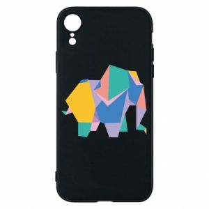 Phone case for iPhone XR Bright elephant abstraction - PrintSalon