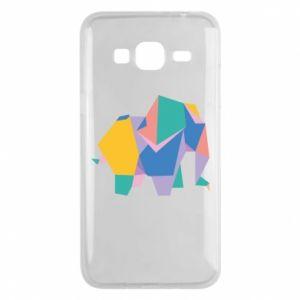 Phone case for Samsung J3 2016 Bright elephant abstraction - PrintSalon