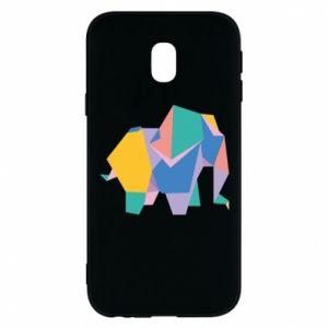 Phone case for Samsung J3 2017 Bright elephant abstraction - PrintSalon