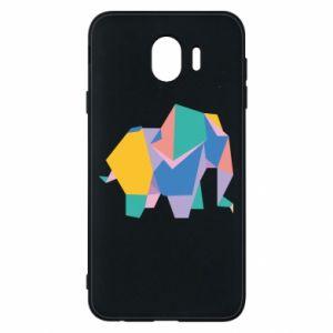 Phone case for Samsung J4 Bright elephant abstraction - PrintSalon