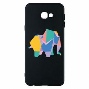 Phone case for Samsung J4 Plus 2018 Bright elephant abstraction - PrintSalon