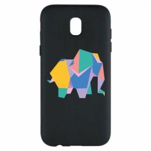 Phone case for Samsung J5 2017 Bright elephant abstraction - PrintSalon