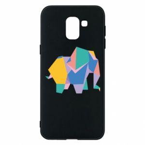 Phone case for Samsung J6 Bright elephant abstraction - PrintSalon