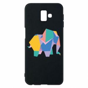Phone case for Samsung J6 Plus 2018 Bright elephant abstraction - PrintSalon