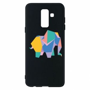 Phone case for Samsung A6+ 2018 Bright elephant abstraction - PrintSalon