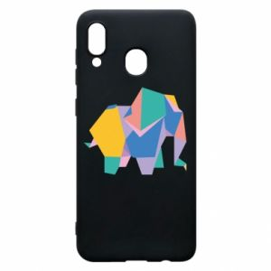 Phone case for Samsung A20 Bright elephant abstraction - PrintSalon