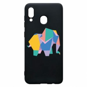Phone case for Samsung A30 Bright elephant abstraction - PrintSalon