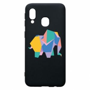 Phone case for Samsung A40 Bright elephant abstraction - PrintSalon