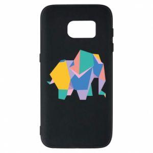 Phone case for Samsung S7 Bright elephant abstraction - PrintSalon