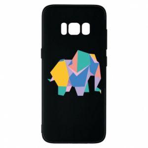 Phone case for Samsung S8 Bright elephant abstraction - PrintSalon