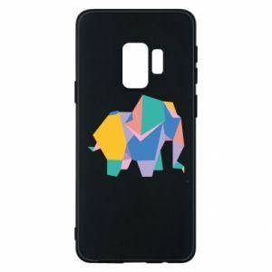 Phone case for Samsung S9 Bright elephant abstraction - PrintSalon