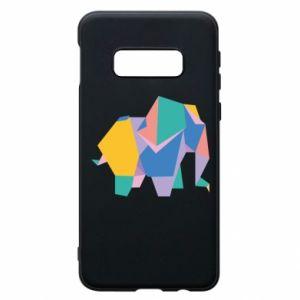 Phone case for Samsung S10e Bright elephant abstraction - PrintSalon
