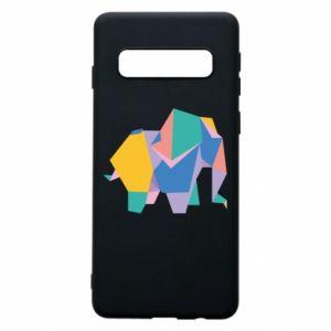 Phone case for Samsung S10 Bright elephant abstraction - PrintSalon