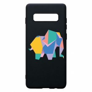 Phone case for Samsung S10+ Bright elephant abstraction - PrintSalon