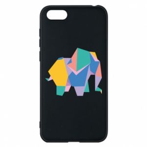 Phone case for Huawei Y5 2018 Bright elephant abstraction - PrintSalon