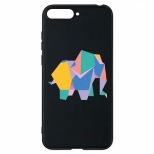Phone case for Huawei Y6 2018 Bright elephant abstraction