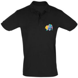 Men's Polo shirt Bright elephant abstraction - PrintSalon