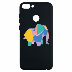 Phone case for Huawei P Smart Bright elephant abstraction - PrintSalon