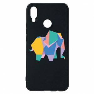 Phone case for Huawei P Smart Plus Bright elephant abstraction - PrintSalon