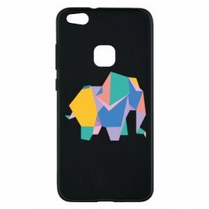Phone case for Huawei P10 Lite Bright elephant abstraction - PrintSalon