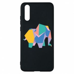 Phone case for Huawei P20 Bright elephant abstraction - PrintSalon