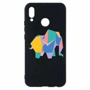 Phone case for Huawei P20 Lite Bright elephant abstraction - PrintSalon