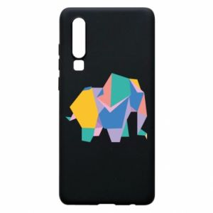 Phone case for Huawei P30 Bright elephant abstraction - PrintSalon