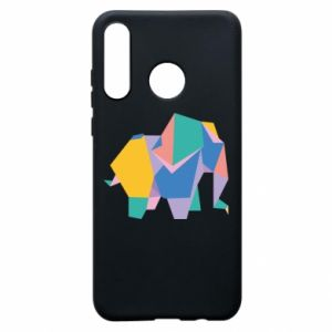 Etui na Huawei P30 Lite Bright elephant abstraction